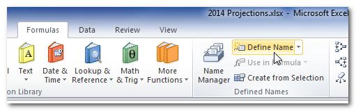 Excel-Define-Name