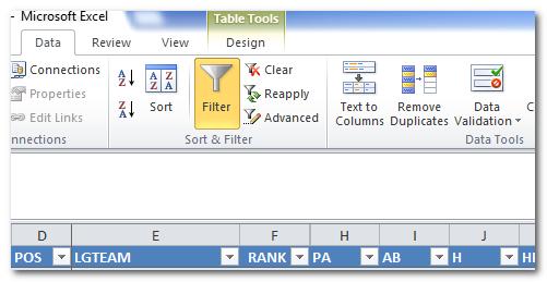 Excel-Filter-Data
