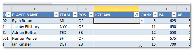 Excel-Undrafted-Players