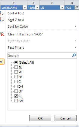 Excel_Filter_Pitchers_Only