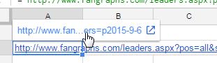 Pop up URL link.