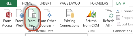 Get external data from text file.